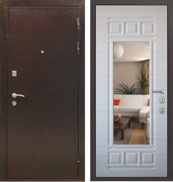 недорогие входные двери с зеркалом
