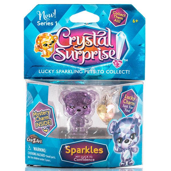 Фигурка Crystal Surprise 45704 Кристал Сюрприз Фигурка Медвежонок + подвески
