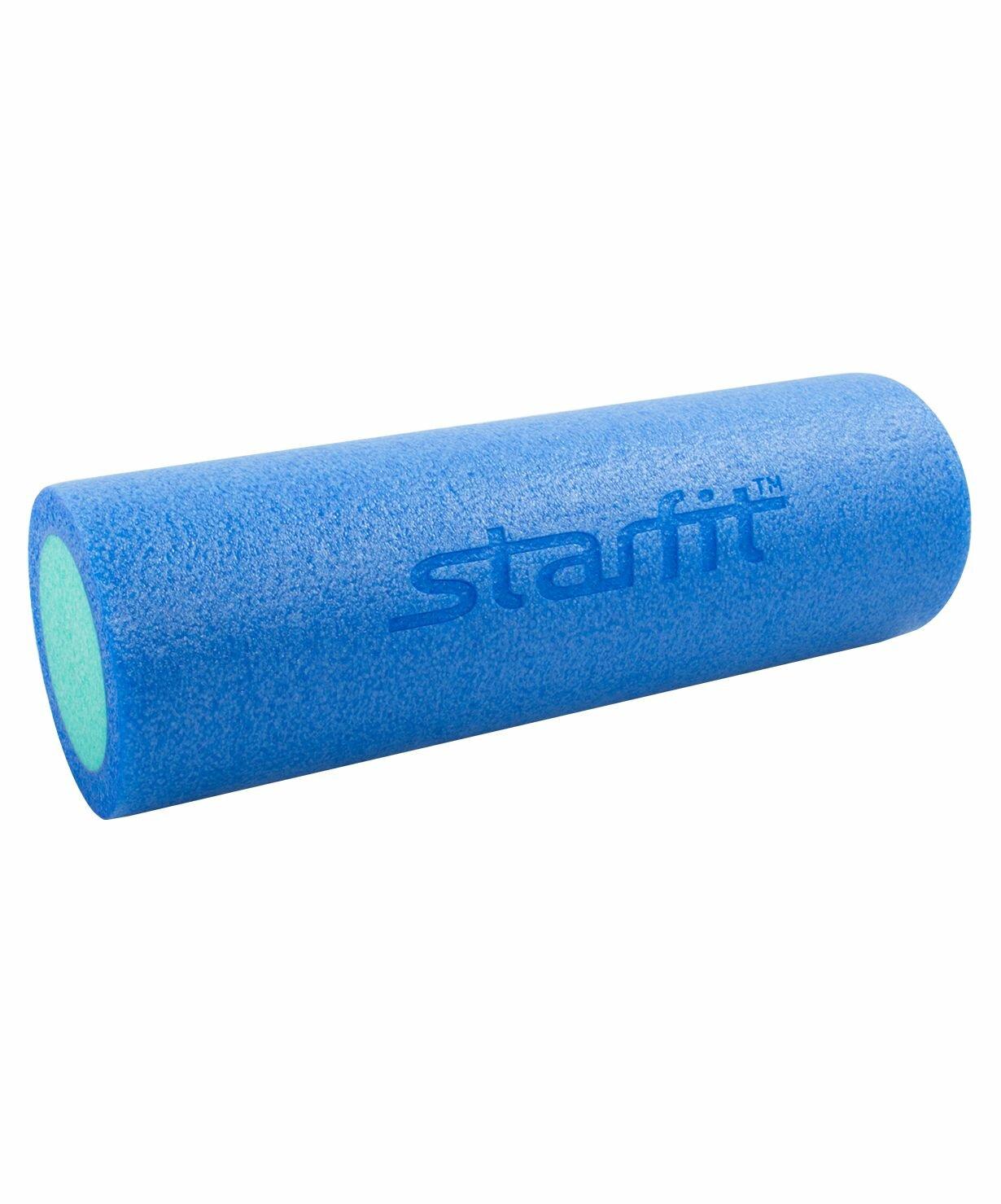 Ролик для йоги и пилатеса FA-501, 15х45 см, синий/голубой