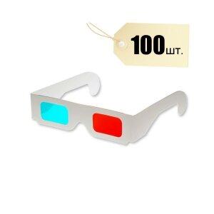 Анаглифные 3D-стерео очки (красный/синий) 100шт./уп.