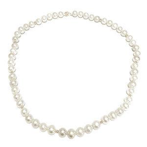 Колье OnePearl Ожерелье из жемчуга с золотой застежкой и золотыми вставками арт. OPO034