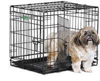 """Клетка для домашних животных """"iCrate"""" черная (2 двери), 61х46х48 см"""