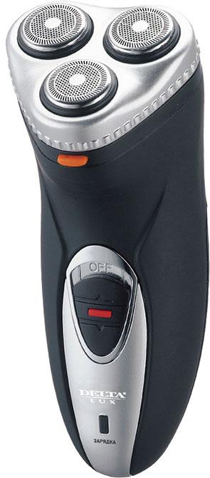 Электробритва DELTA LUX DL-0723 черный с серебром
