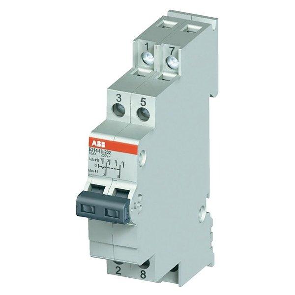 Модульный переключатель ABB E214-16-202 два переключающих контакта 16A (I-0-II) (2CCA703030R0001)