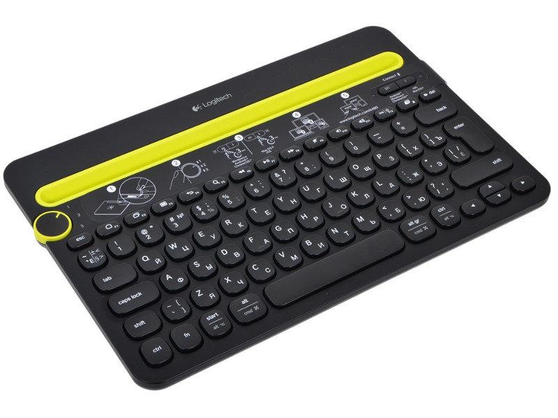 Клавиатура Logitech Multi-Device Keyboard K480 Black Bluetooth 920-006368