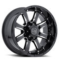 Диски BLACK RHINO Sierra 9x18 ET12 8x165 d120 Gloss Black Mirror Machine Cut Lip - фото 1
