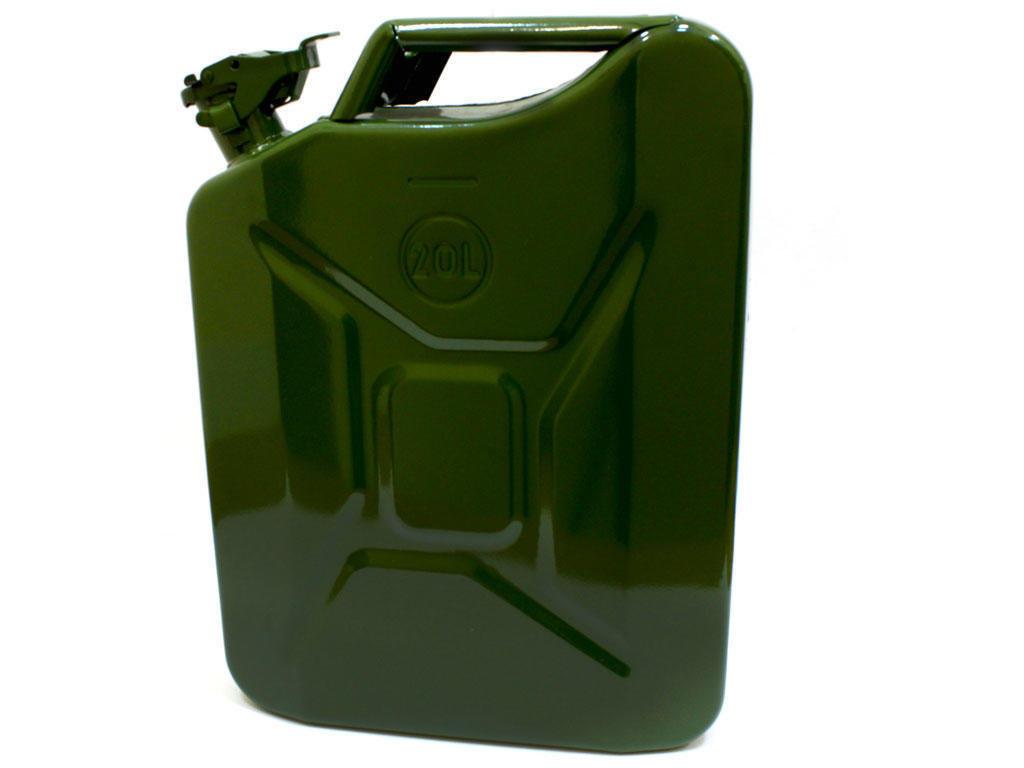 Канистра металлическая 20 л для бензина КМ-20 РосИнструмент