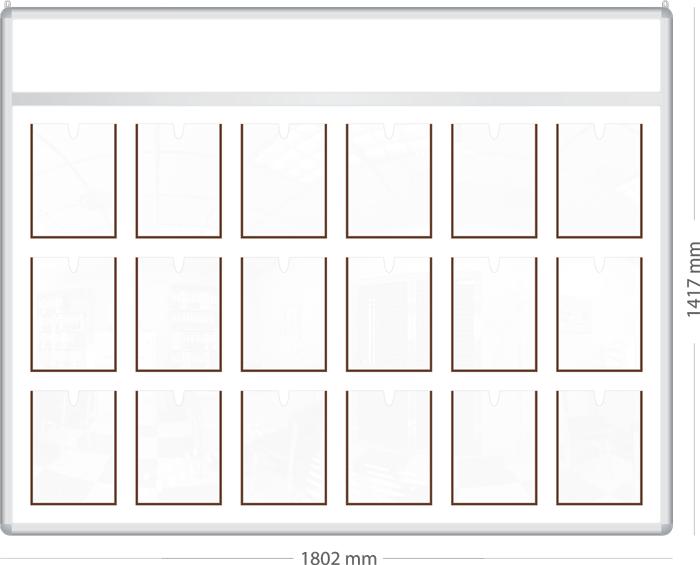 Стенд с фризом на 18 карманов формата А4.|Престиж| ИП Севостьянов Стенд с фризом на 18 карманов формата А4.|Престиж|
