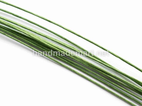 Флористическая Проволока Металлическая, Диаметр 0,7 мм, 40 см, Зеленая, 1 уп (10 шт)
