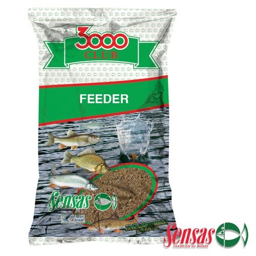 Прикормка SENSAS 3000 CLUB FEEDER Bream 1кг (Фидер, Лещ)