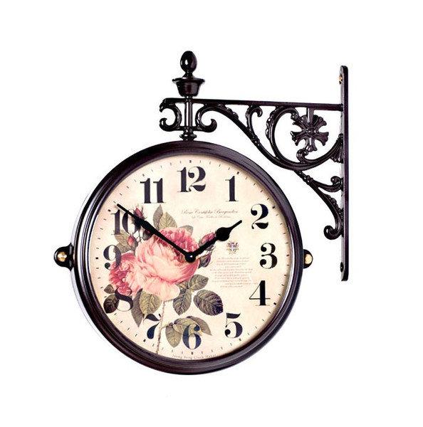 Настенные двухсторонние часы купить в интернет магазине.