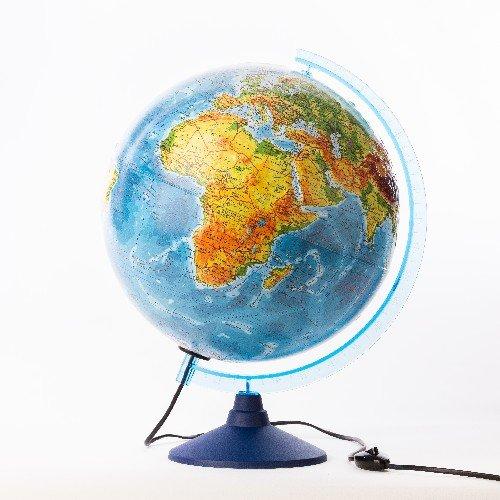 Глобус Земли Classic физико-политический с подсветкой рельефный, d=32 см Ке013200233 Globen