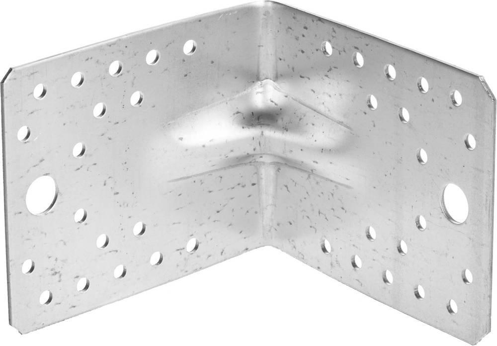 Крепежный угол усиленный 90х105х105 мм 1 шт Зубр мастер 310116-90-105