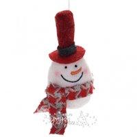 Koopman Елочная игрушка Снеговик в красном цилиндре 16 см, подвеска AAT000920