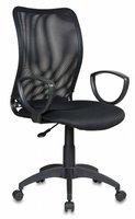 Бюрократ (BURO) Кресло Бюрократ CH-599AXSN Спинка черная сетка, сиденье черное