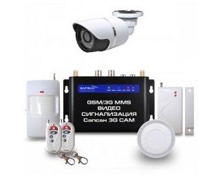 """Sapsan GSM MMS 3G CAM """"Дача"""" с датчиками, 1 уличной в/камерой, функцией видеозвонок (11239)"""