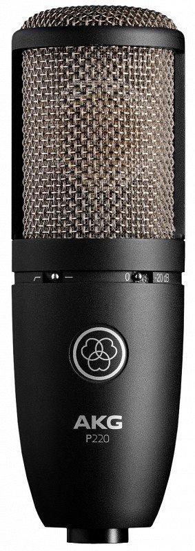 AKG P220 микрофон конденсаторный кардиоидный, мембрана 1`, 20-20000Гц, 18мВ/Па, SPL135/155дБ
