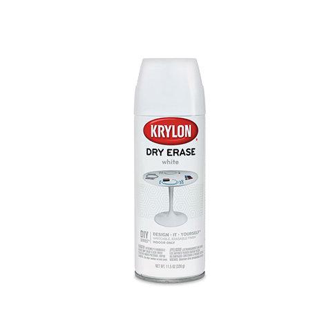 Krylon Dry Erase Маркерная краска (спрей, белая)