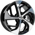 Колесные диски SKAD KL-275 (Tucson) 7x17 5x114.3 ET51 D67.1 Чёрный матовый с полированной лицевой частью (2650031) - фото 1
