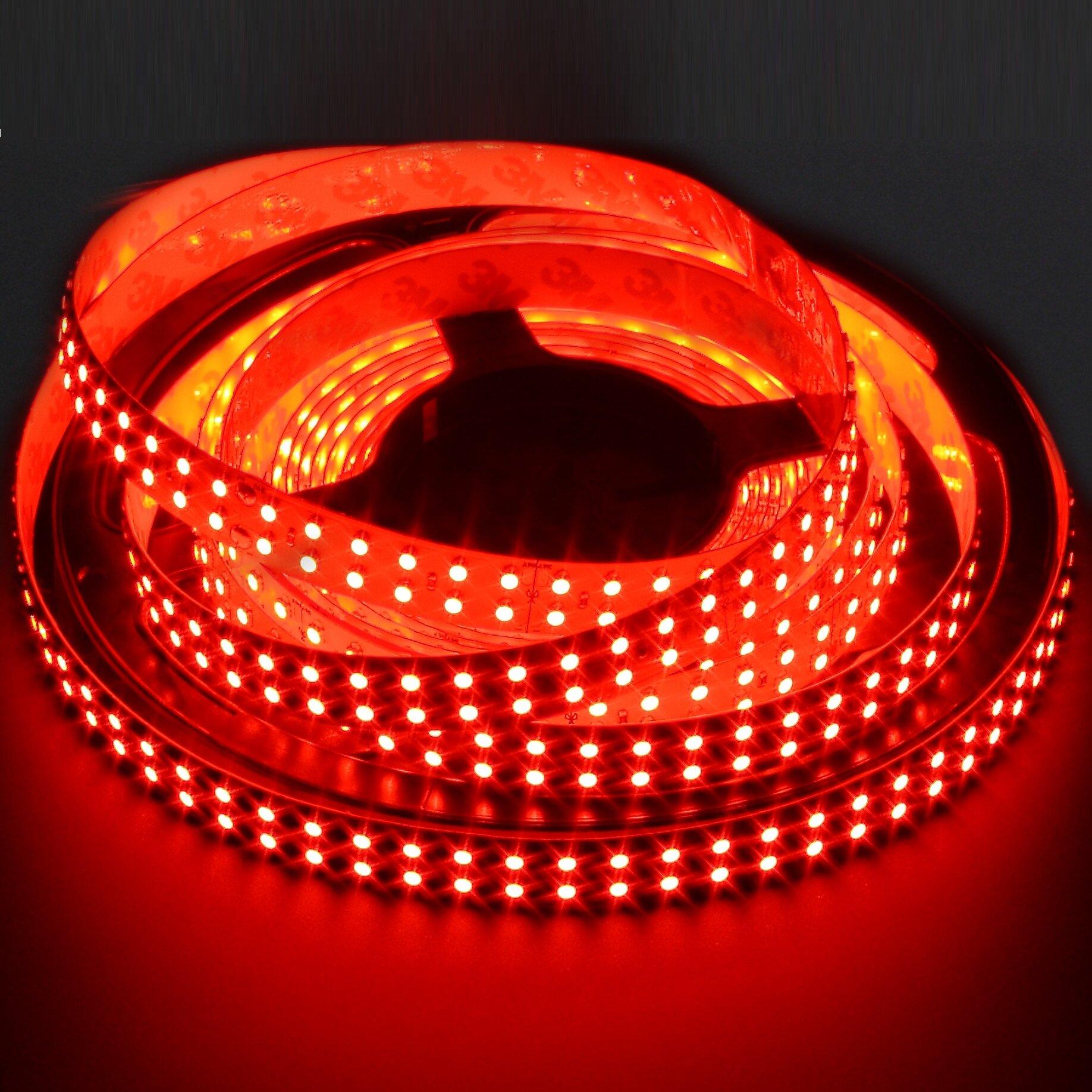 Светодиодная лента SmartLight 24V IP20 SMD5050 28.8 Вт/м, 120 диодов на 1 метр, ширина 16 мм, цвет красный. Минимальный заказ от 5 м.п., LS2806-143