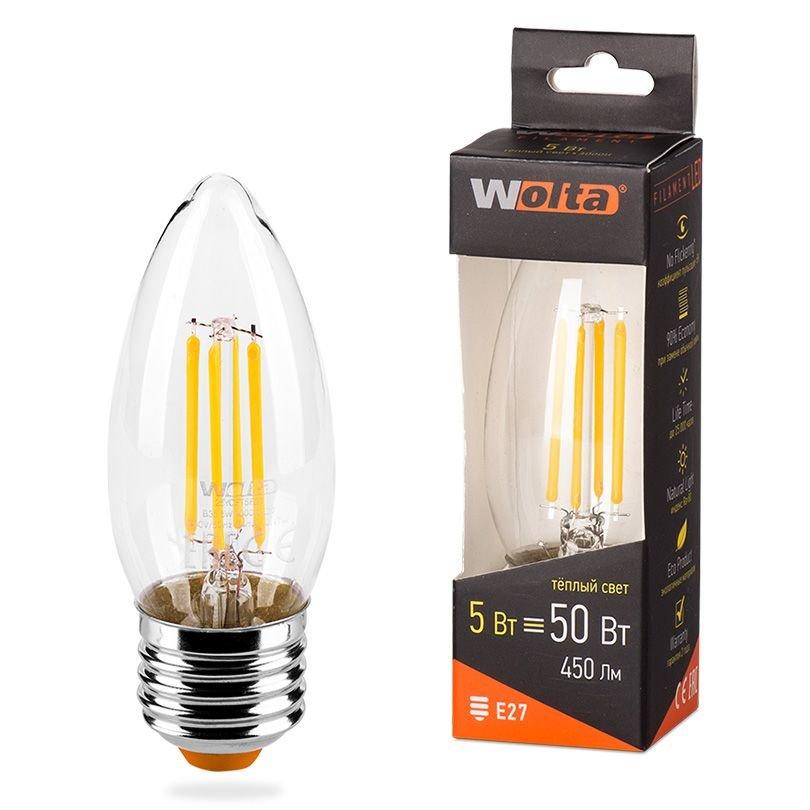 Лампа Wolta E27 5Вт 3000K