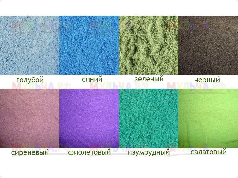 Песок цветной - Голубой, 2 кг