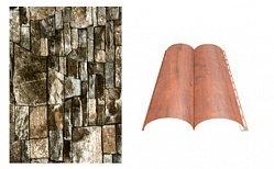 Сайдинг наружный металлический МеталлПрофиль Woodstock Белый камень продольный 4м