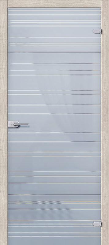 Межкомнатная дверь Браво Грация Белое Сатинато стеклянная, Стеклянная / 600x2000 / Полотно