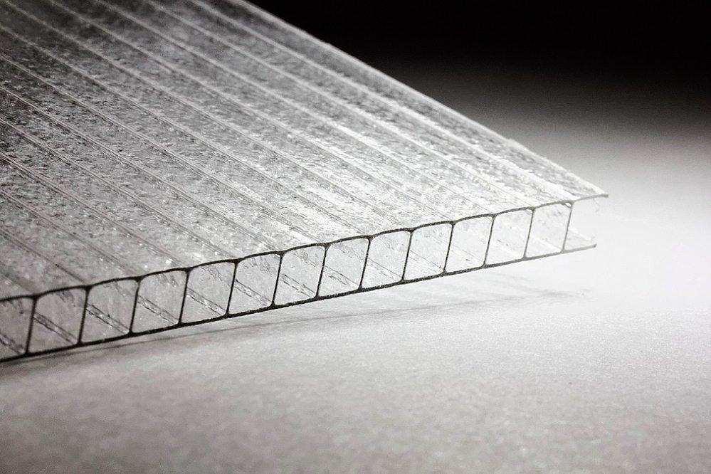Сотовый поликарбонат Колотый Лёд 6 мм прозрачный