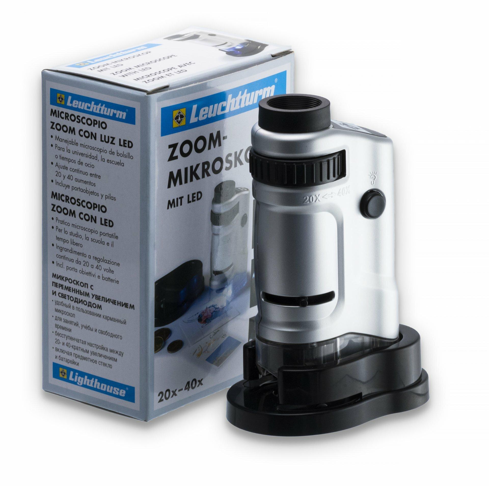 Микроскоп Leuchtturm 40-кратное увеличение, с подсветкой Z423201