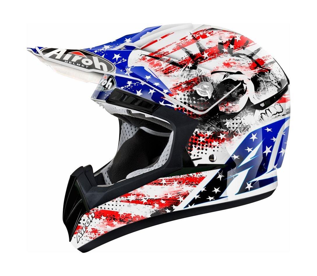 Шлем кроссовый Airoh cr901 patriot, сине-красный, M CR1PA38M