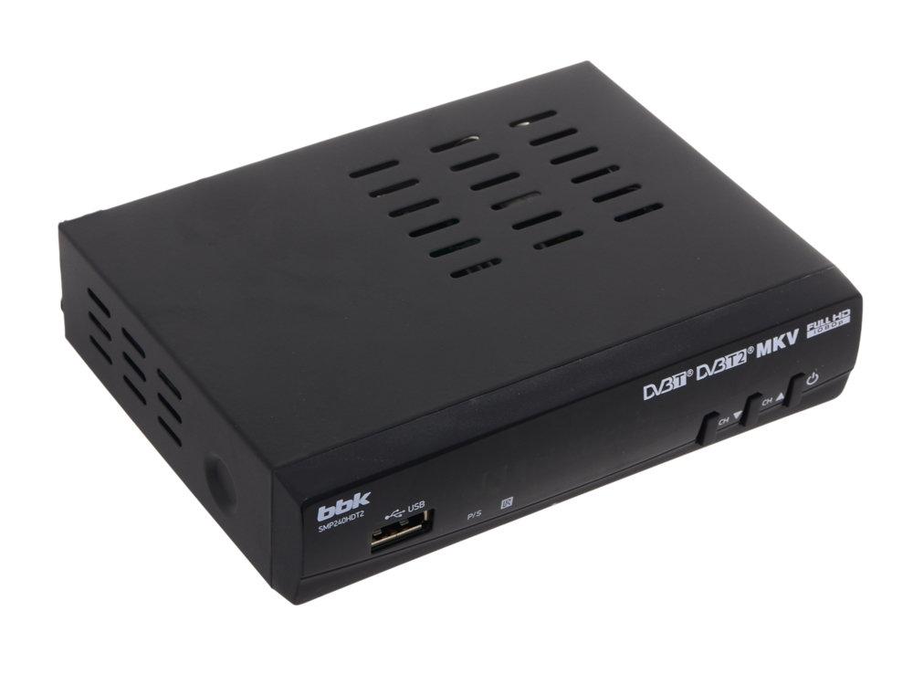 Цифровой телевизионный DVB-T2 ресивер BBK SMP240HDT2 черный