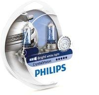 Лампа галогенная PHILIPS H11 Crystal Vision 4300K 12V 55W + W5W 12V 5W, по 2 шт, 12362CVSM
