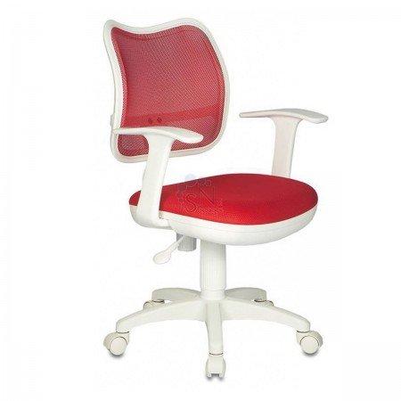 Кресло операторское CH-W797/R/TW-97N /TW35N пластик белый/ спинка красная