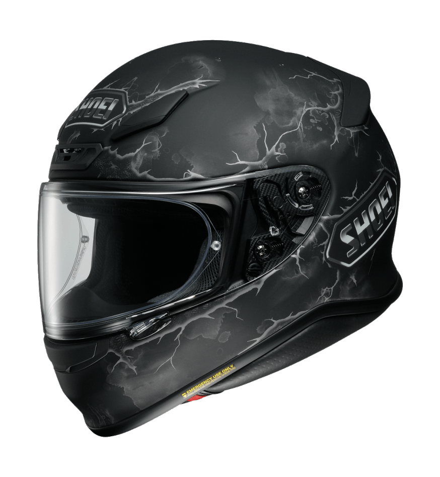 Шлем интеграл Shoei RF-1200 Ruts, чёрный, XS 0109280503