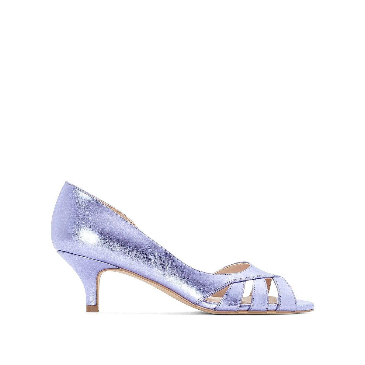 Туфли La Redoute С металлическим отливом 37 фиолетовый