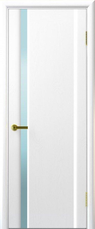 Межкомнатные двери Ульяновские Двери Ульяновские Двери Модель Техно 1 Ясень жемчуг Триплекс белый