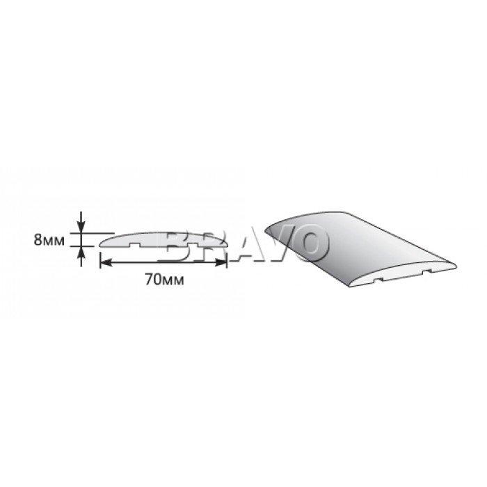 Наличник Полукруглый 2150*70*8, Статус-15, П-23 (Белый)