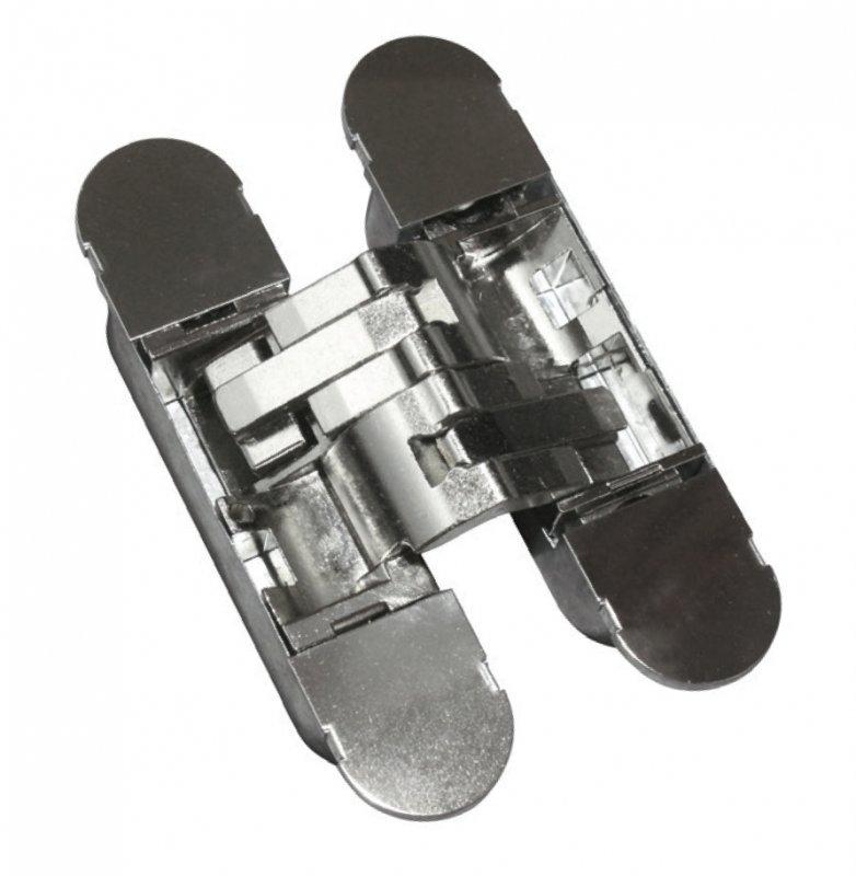 Петля дверная скрытого монтажа ARCHIE S-230 P.CHROME, хром, 3D регулировка, 1шт