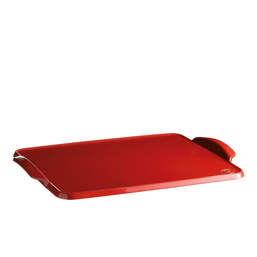 Противень Emile Henry керамический для выпечки, (цвет: гранат)