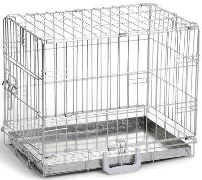 Клетка для собак, оцинкованная, 49x36x40 см