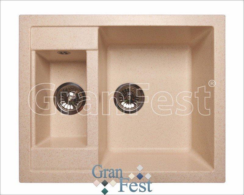Кухонная мойка GranFest Quadro GF-Q610K (Черный)