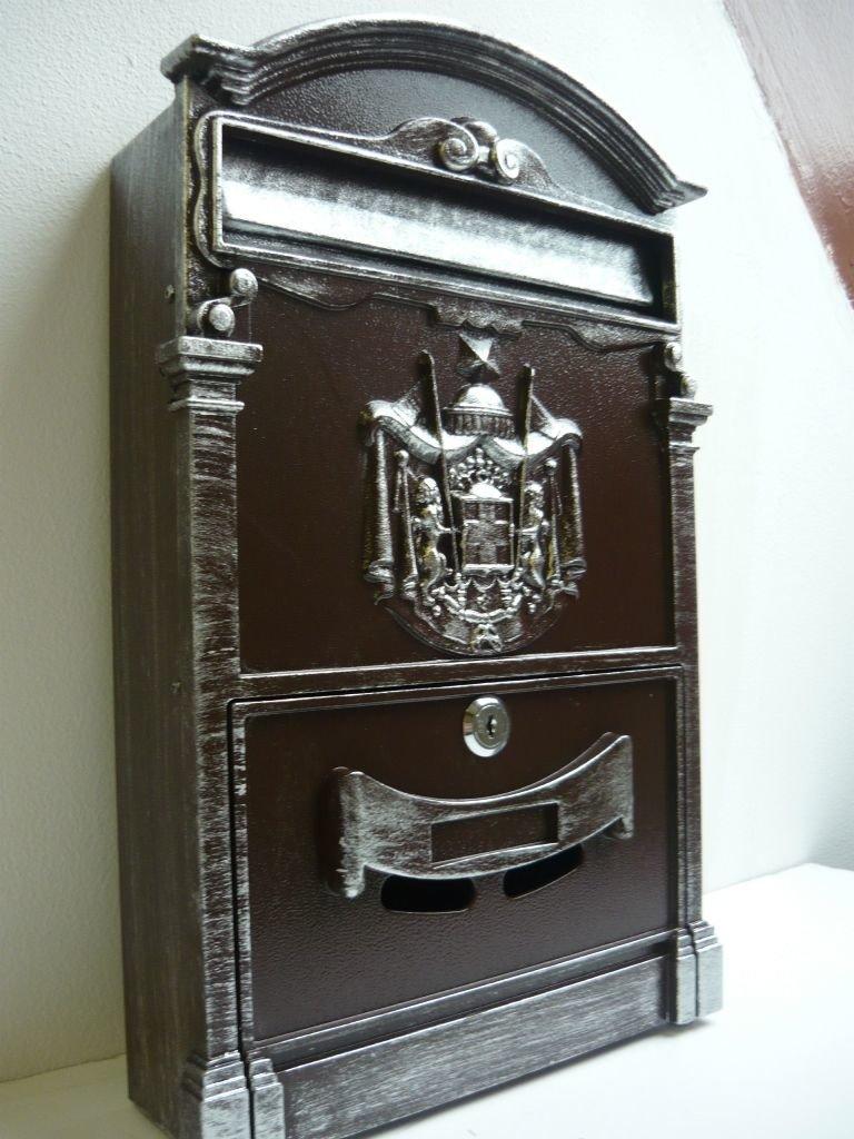 Фиаком Почтовый ящик Lion Antique (шоколад+серебро)