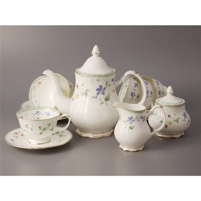 Чайный сервиз Lefard 264-303 чайный сервиз на 6 персон 15 пр. 1200/300/200 мл. фарфор