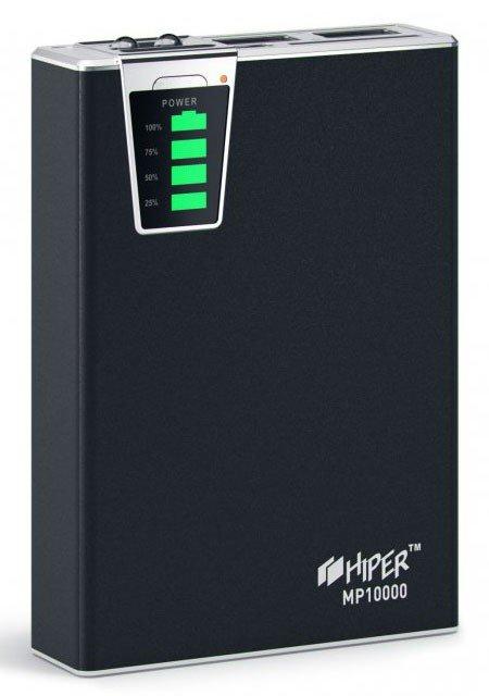 Мобильный аккумулятор HIPER MP10000, черный