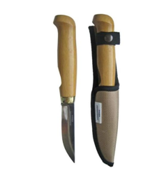 Нож в ножнах (горячая ковка) 70 мм дерев.ручка 25-213