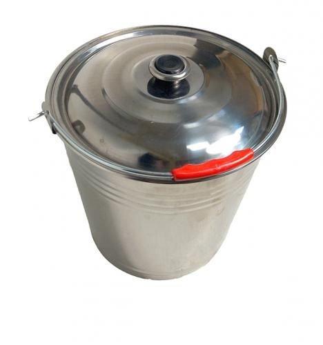 Ведро 12 литров,нержавеющая сталь,с крышкой.