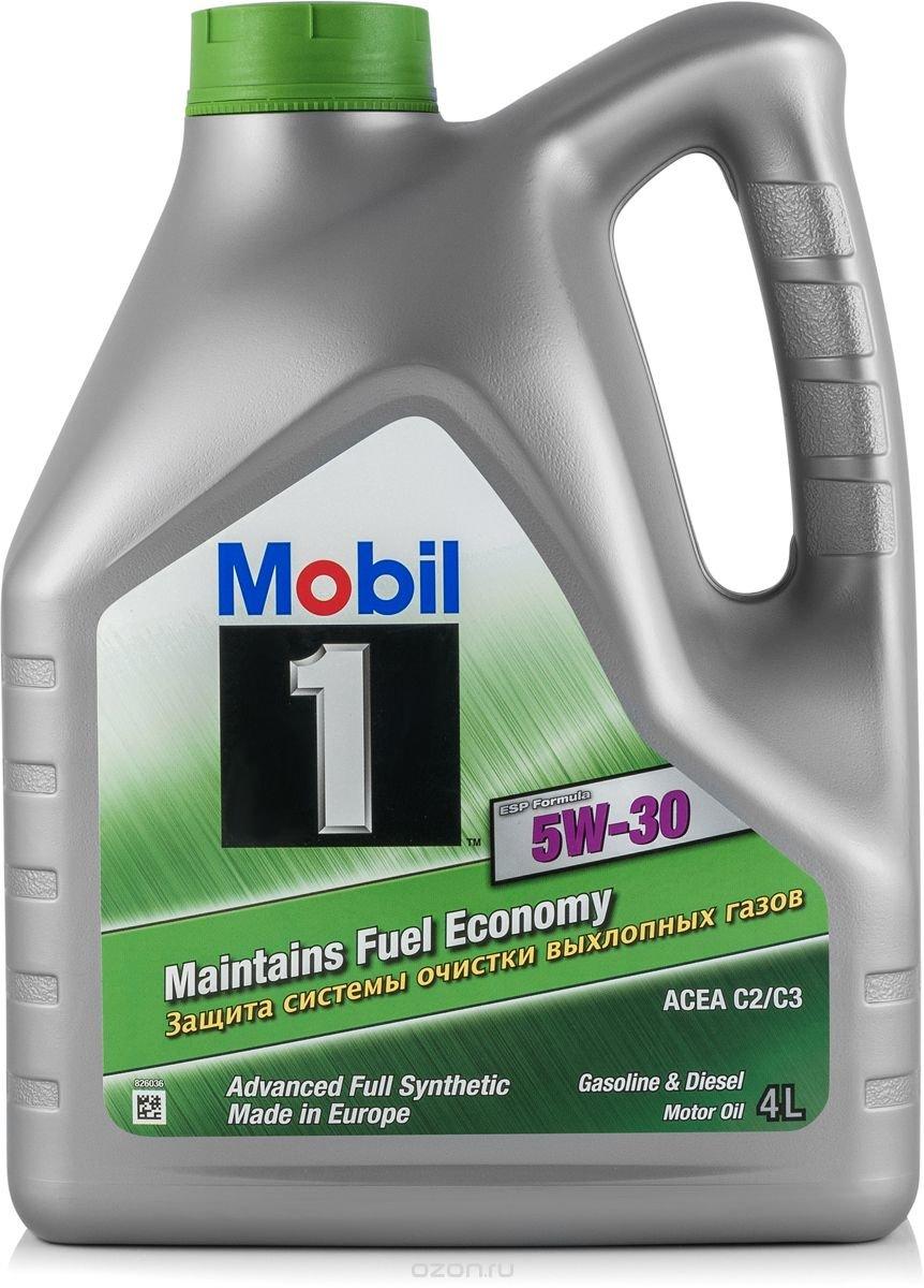 Масло моторное Mobil 1 ESP Formula, синтетическое, 5W-30, 4 л