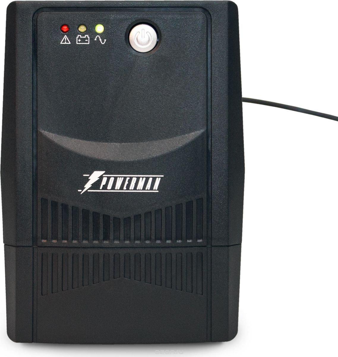 """Источник бесперебойного питания Powerman """"UPS Вack Pro 800 Plus, 800 ВА"""