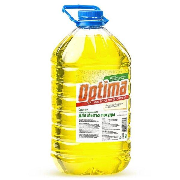 Средство для мытья посуды Оптима, 5 л